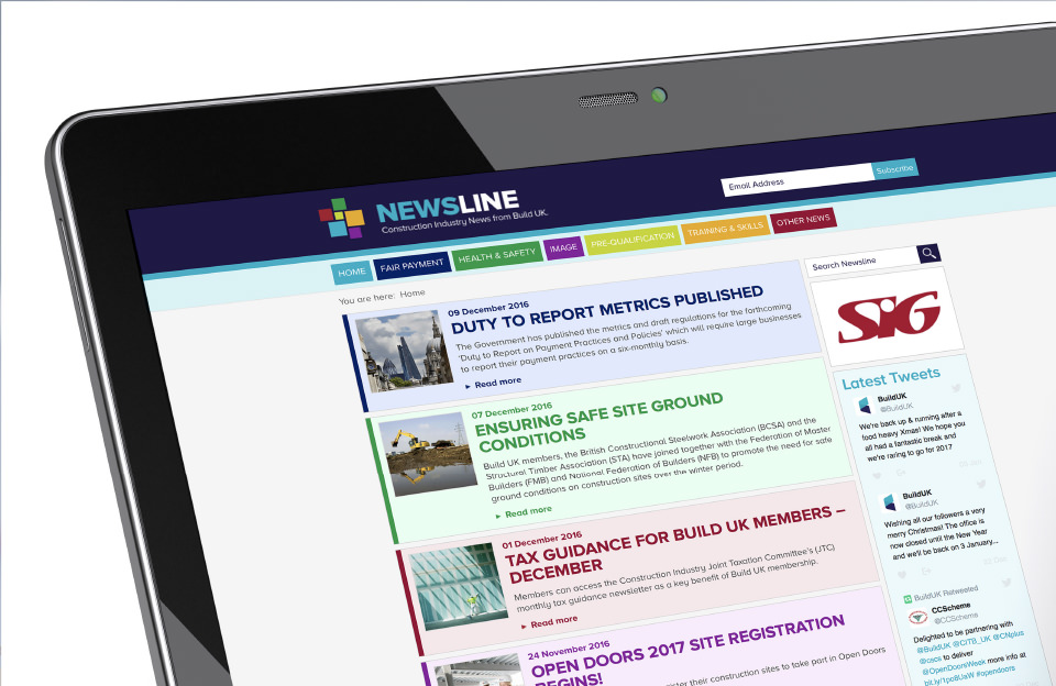 Build UK - Newsline website